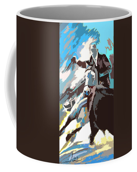 Animals Coffee Mug featuring the painting Toroscape 31 by Miki De Goodaboom
