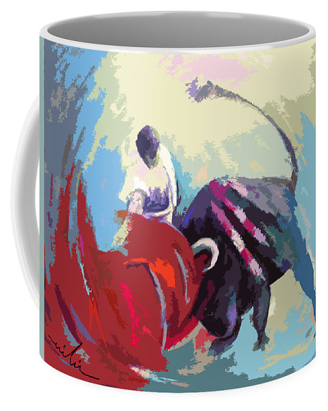 Animals Coffee Mug featuring the painting Toroscape 33 by Miki De Goodaboom