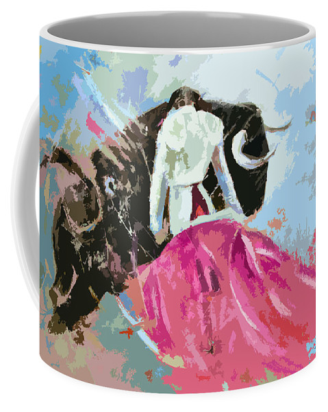 Animals Coffee Mug featuring the painting Toroscape 34 by Miki De Goodaboom