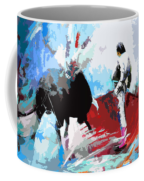 Animals Coffee Mug featuring the painting Toroscape 35 by Miki De Goodaboom