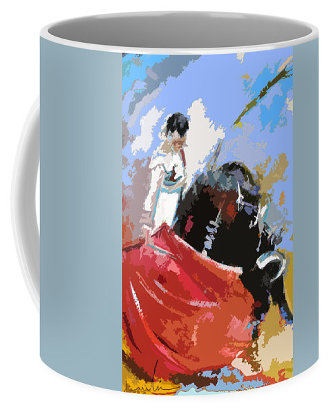 Animals Coffee Mug featuring the painting Toroscape 36 by Miki De Goodaboom