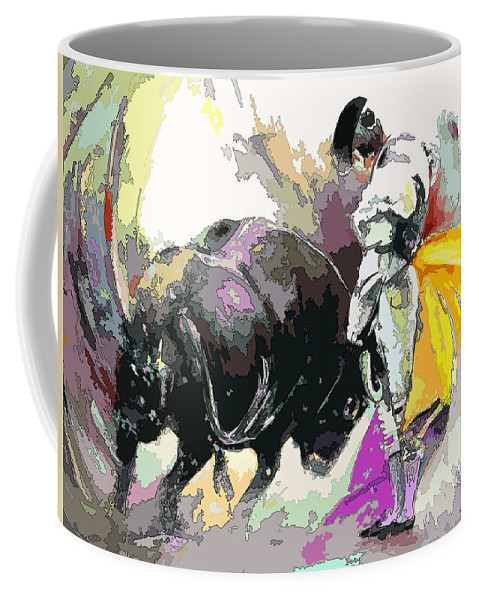 Animals Coffee Mug featuring the painting Toroscape 39 by Miki De Goodaboom