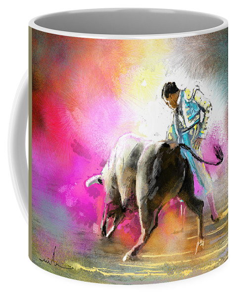 Animals Coffee Mug featuring the painting Toroscape 44 by Miki De Goodaboom