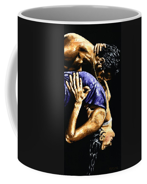 Tango Coffee Mug featuring the painting Torrid Tango by Richard Young