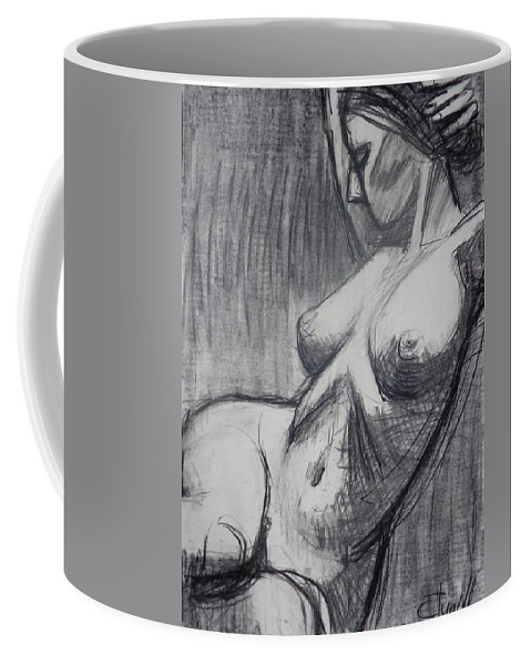 Torso 6 Coffee Mug featuring the painting Torso 6 - Female Nude by Carmen Tyrrell