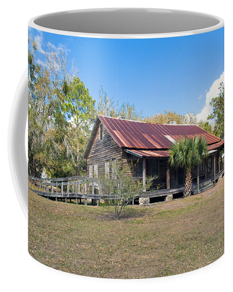 Florida; Ranch; Cattle; Central; Tosohatchee; Beehead; Beehive; Tree; Bee; Honey; Cracker; Cow; Cowb Coffee Mug featuring the photograph Tosohatchee Cattle Ranch In Central Florida by Allan Hughes