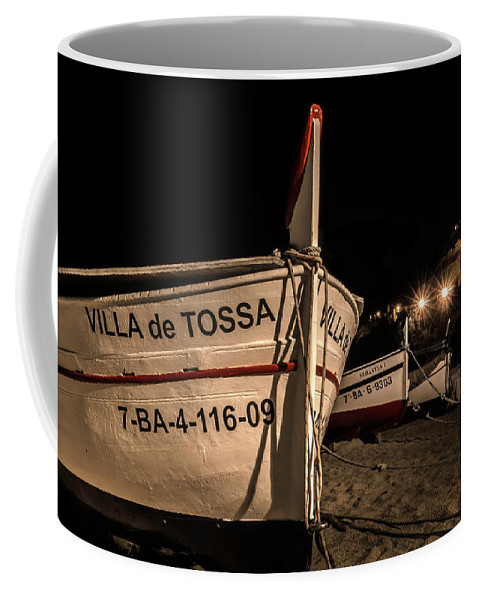 Spain Coffee Mug featuring the photograph Tossa De Mar By Night by Wolfgang Stocker