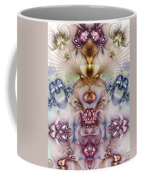 Abstract Coffee Mug featuring the digital art Totemic Isotropy by Casey Kotas