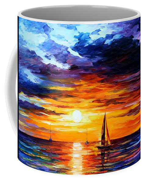 Afremov Coffee Mug featuring the painting Touch Of Horizon by Leonid Afremov