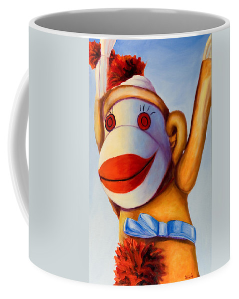 Children Coffee Mug featuring the painting Touchdown by Shannon Grissom