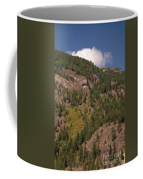 Mountains Coffee Mug featuring the photograph Touching The Clouds by Richard Rizzo