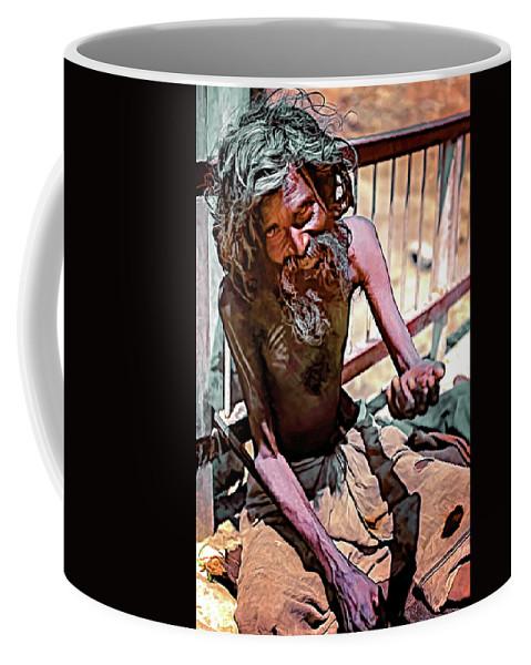 Srinagar Coffee Mug featuring the photograph Tough As It Gets...paint by Steve Harrington