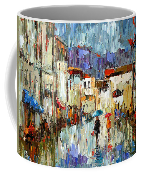 Landscape Coffee Mug featuring the painting Tourists by Debra Hurd