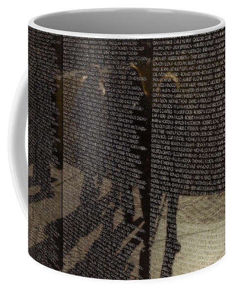 Washington Coffee Mug featuring the photograph Tourists Walking By Reflected by Todd Gipstein