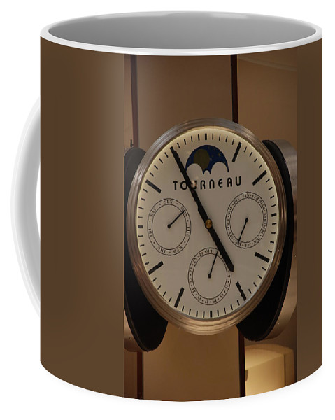 Clock Coffee Mug featuring the photograph Tourneau by Rob Hans