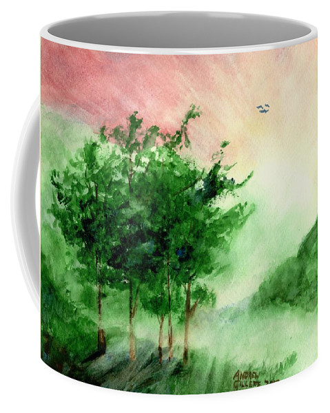 Landscape Coffee Mug featuring the painting Toward the Promised Land by Andrew Gillette