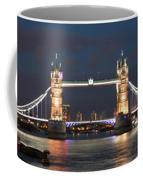 Tower Bridge Coffee Mug featuring the photograph Tower Bridge by Andrew Ford
