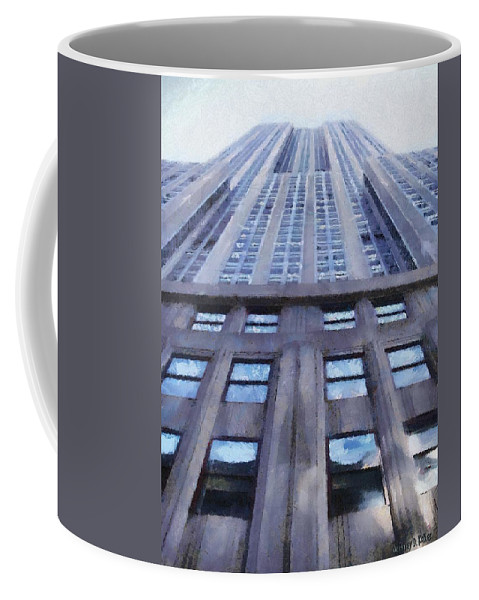 Empire State Building Coffee Mug featuring the painting Tower Of Steel And Stone by Jeffrey Kolker