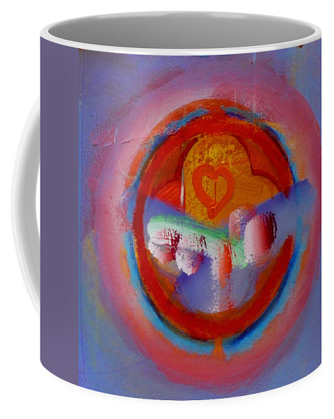 Logo Coffee Mug featuring the painting Towers In The Mist by Charles Stuart