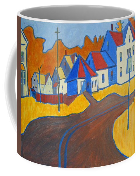 Buildings Coffee Mug featuring the painting Town Center Plaistow NH by Debra Bretton Robinson