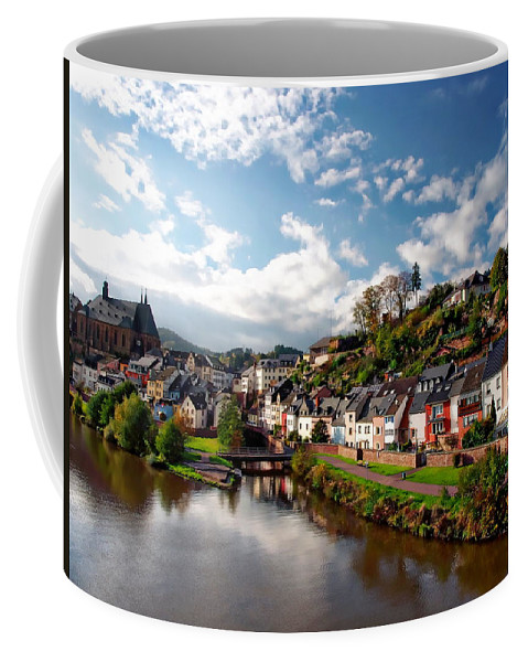 Landscape Coffee Mug featuring the photograph Town Of Saarburg by Anthony Dezenzio