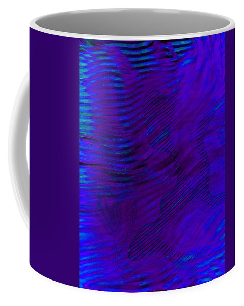 Abstract Coffee Mug featuring the digital art Tox2me by Steven Scanlon
