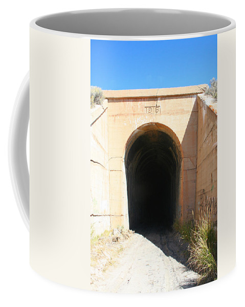 Tunnel Coffee Mug featuring the photograph Toy Train Tunnel by Pat Turner