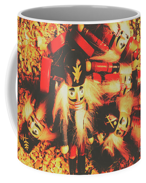 Nut Cracker Coffee Mug featuring the photograph Toy Workshop Soldiers by Jorgo Photography - Wall Art Gallery