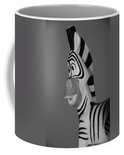 Black And White Coffee Mug featuring the photograph Toy Zebra by Rob Hans