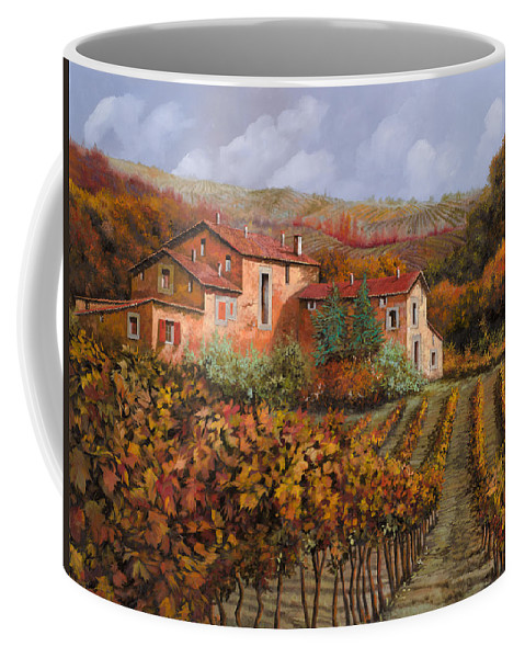 Wine Coffee Mug featuring the painting tra le vigne a Montalcino by Guido Borelli