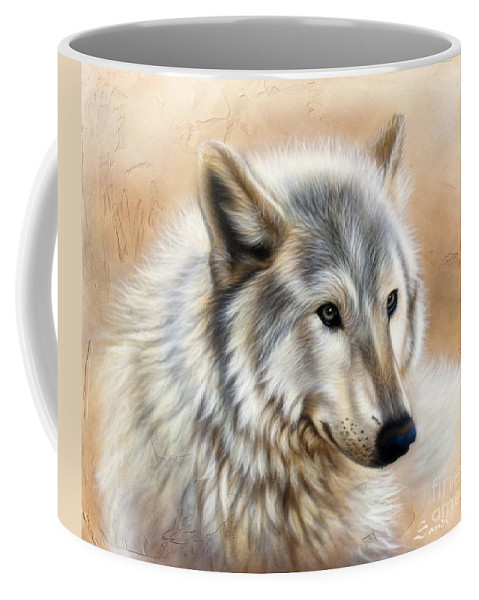 Acrylic Coffee Mug featuring the painting Trace by Sandi Baker