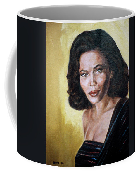 Tracey Ross Coffee Mug featuring the painting Tracey Ross by Bryan Bustard