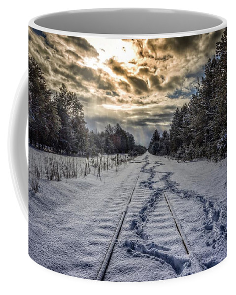 Snow Coffee Mug featuring the photograph Tracks by Chase Gagnon