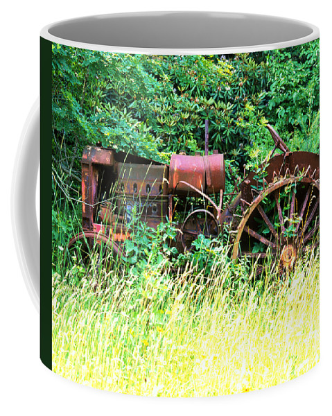 Tractor Coffee Mug featuring the photograph Tractor by Robert Ponzoni