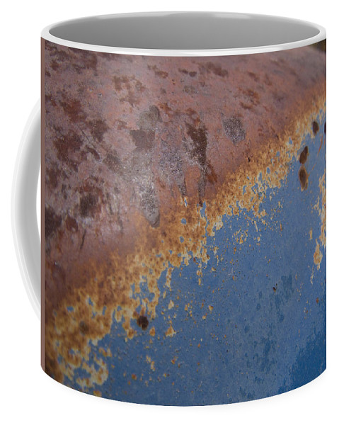 Rust Coffee Mug featuring the photograph Tractor Decomposition by Jeffery Ball
