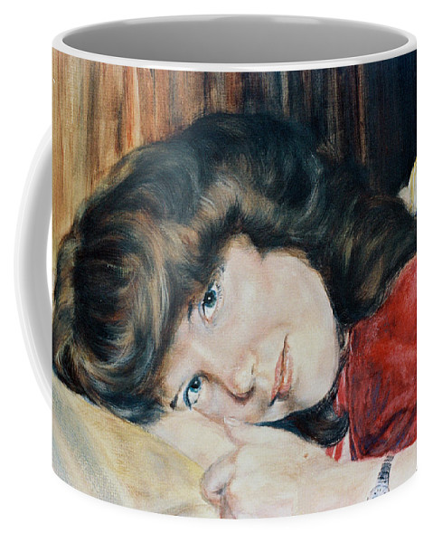 Girl Coffee Mug featuring the painting Tracy by Bryan Bustard