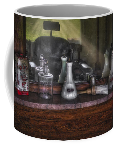 Barber Shop Coffee Mug featuring the photograph Traditional Barber Shop by Susan Candelario