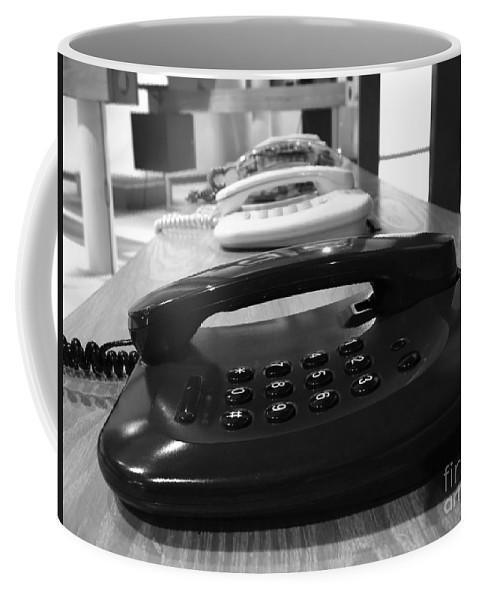 Telephones Coffee Mug featuring the photograph Traditional Telephones by Yali Shi