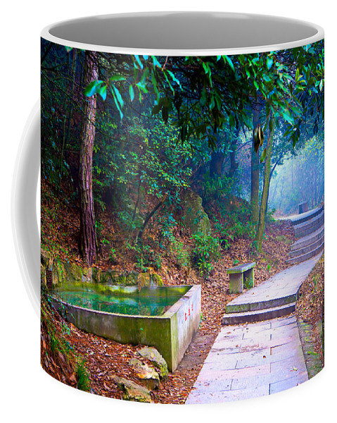 Trail Coffee Mug featuring the photograph Trail In Woods by James O Thompson