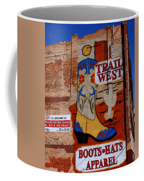 Mural Coffee Mug featuring the photograph Trail West Mural by Susanne Van Hulst