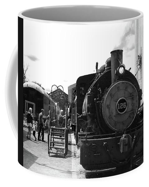 Steam Engine Coffee Mug featuring the photograph Train by Carol Schultz