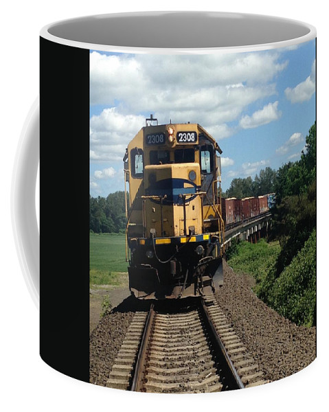 Train Coffee Mug featuring the photograph Train by Shari Chavira