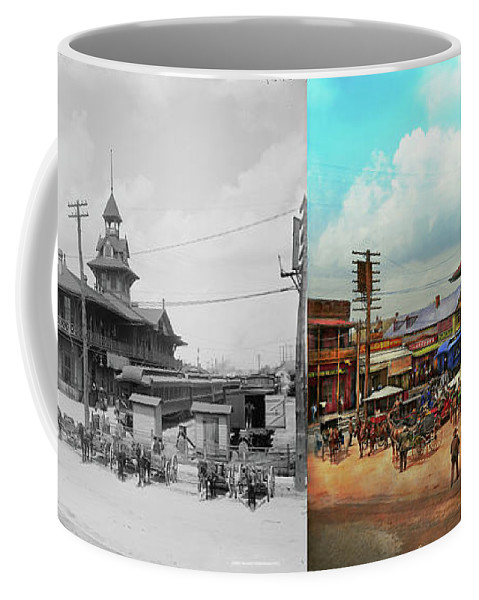 Self Coffee Mug featuring the photograph Train Station - Louisville And Nashville Railroad 1912- Side By by Mike Savad