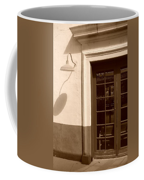 Sepia Coffee Mug featuring the photograph Train Station Of The 40s by Rob Hans