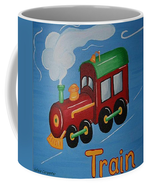 Train Coffee Mug featuring the painting Train by Valerie Carpenter