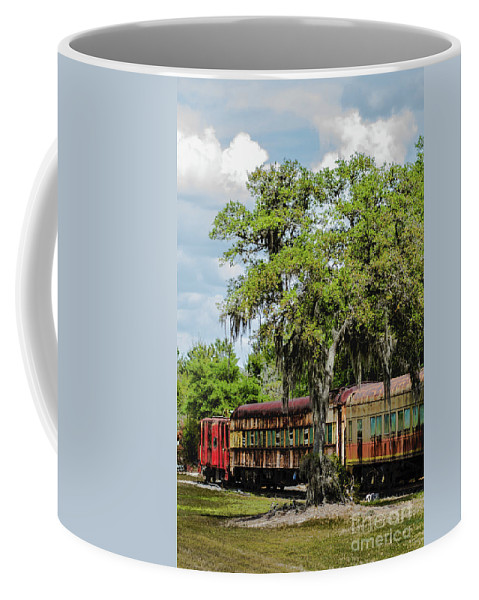 Restored Trains Coffee Mug featuring the photograph Train Yard by Patti Powers