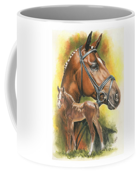 Equus Coffee Mug featuring the painting Trakehner by Barbara Keith
