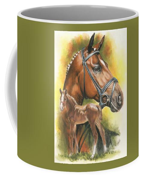 Jumper Hunter Coffee Mug featuring the mixed media Trakehner by Barbara Keith