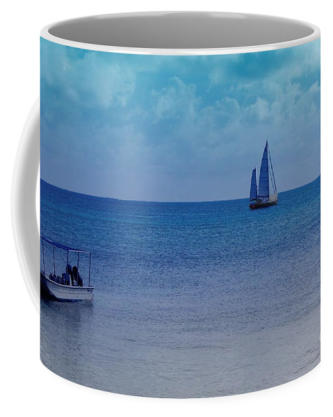 Water Coffee Mug featuring the photograph Tranquil Blue by Debbi Granruth