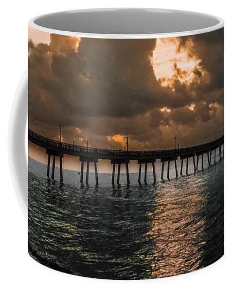Water Coffee Mug featuring the photograph Tranquil Destination Panorama by Gary Keesler